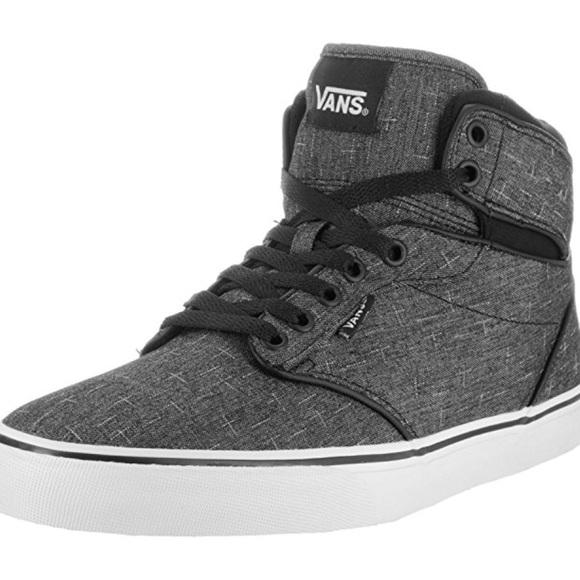 Men s Vans Atwood Hi Textile Skate Shoe 55a702fe1